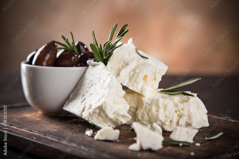 Fototapety, obrazy: Greek cheese feta