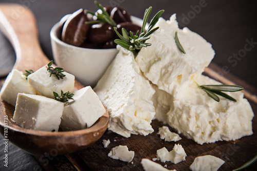 Fototapeta Greek cheese feta obraz