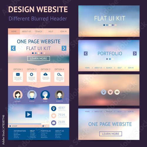 One page website design template flat ui kit buy this stock one page website design template flat ui kit maxwellsz