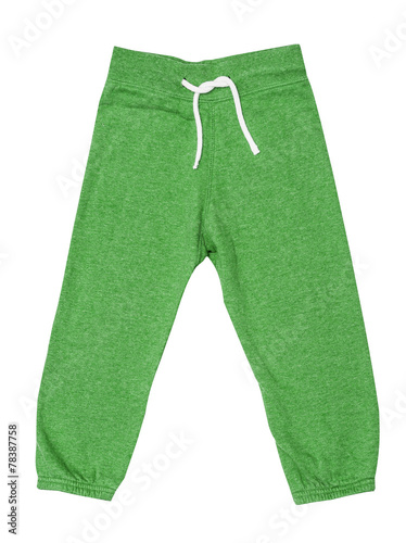 Fotografie, Obraz  Green children's sports trousers with ties