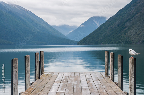 Tuinposter Nieuw Zeeland Nelson Lakes National Park New Zealand