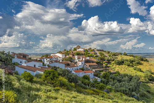 Photo Portugal , the District of Evora . The green village of Monsaraz