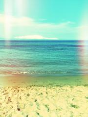 Fototapeta Sea and beach, retro image