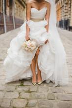 Bride On The Old Streets Of Lviv, Ukraine