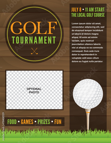 golf tournament flyer illustration buy this stock vector and explore similar vectors at adobe. Black Bedroom Furniture Sets. Home Design Ideas
