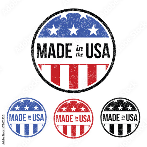 Made in the USA Sticker Poster
