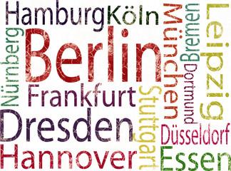 Obraz na Szkle Berlin deutsche Großstädte grunge