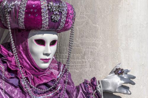 Purple mask at Venice carnival