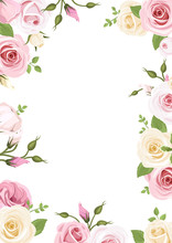 Background With Pink And White...