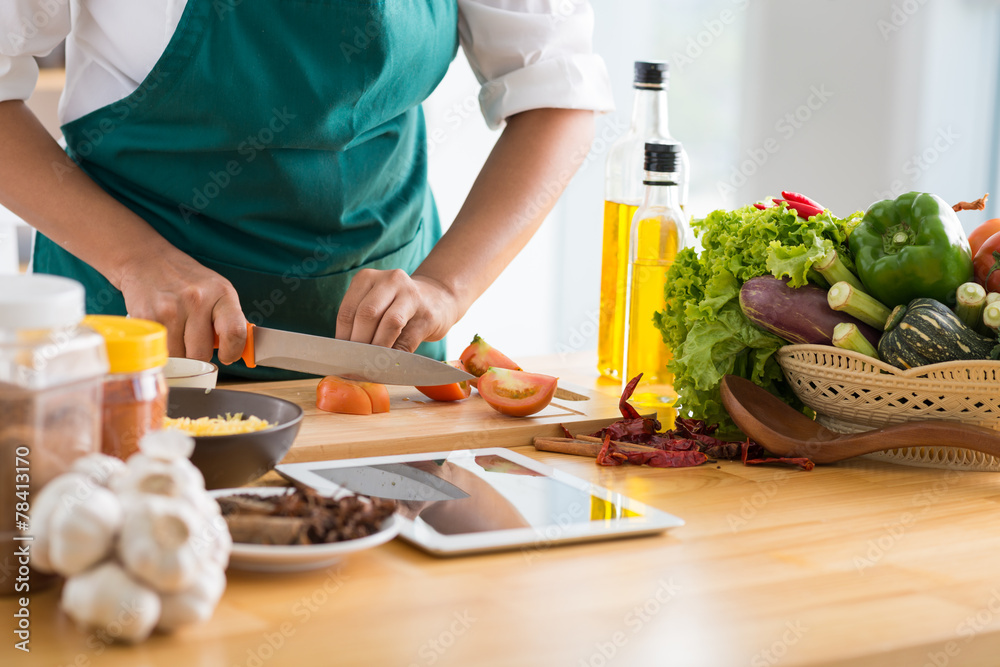 Fototapety, obrazy: Cooking healthy meal