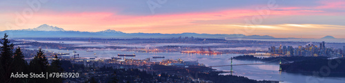 Fotomural  Vancouver Panoramic Cityscapes
