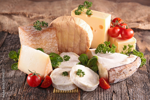 Poster Produit laitier variety of cheese
