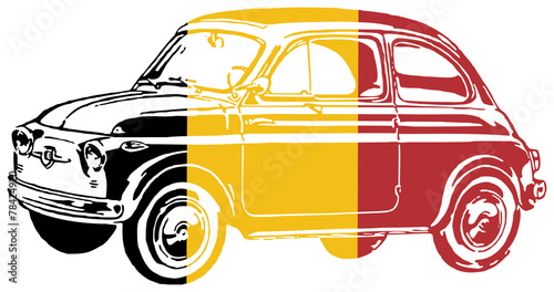 Fiat 500 Cinquecento Car Wallpaper Mural