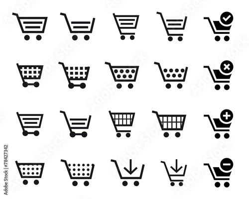 Shopping Cart Icons Canvas Print
