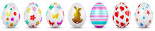 Row Of Painted Easter Eggs