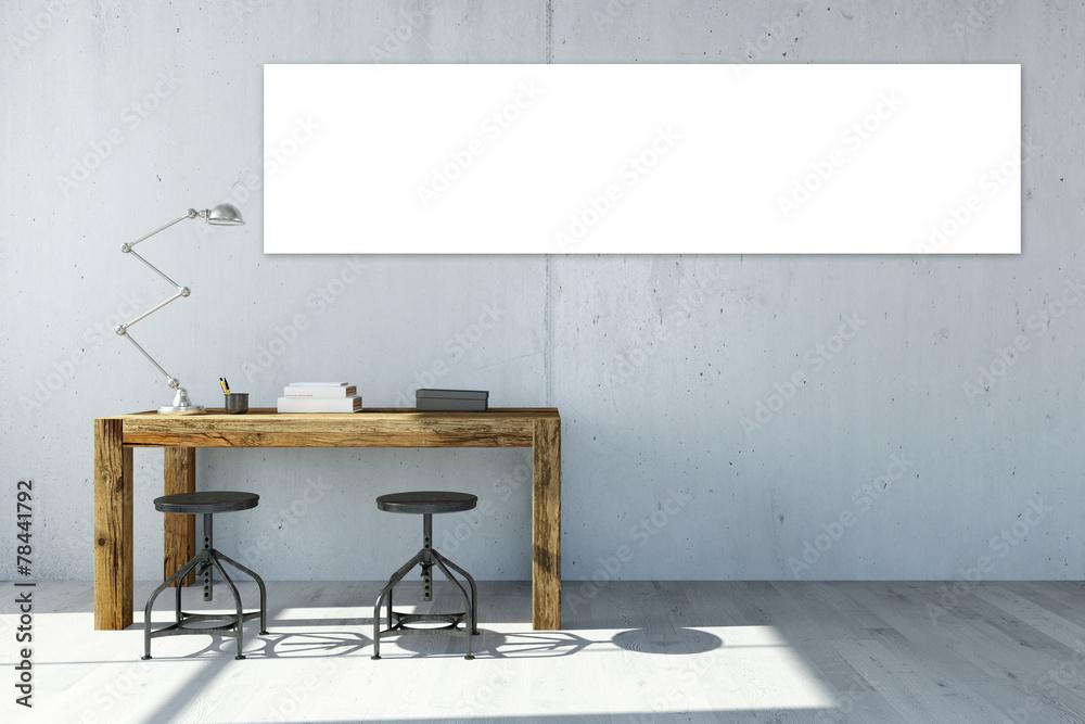 Photo & Art Print Panorama Leinwand an Wand im Büro | EuroPosters