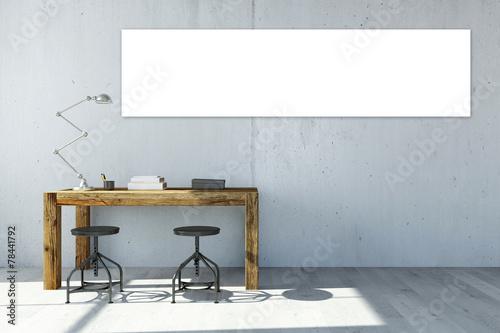Fotografía  Panorama Leinwand an Wand im Büro