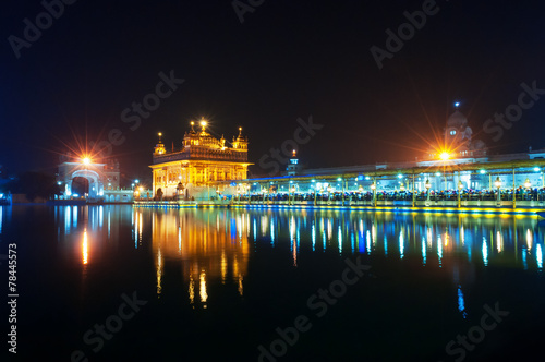 Fotografie, Obraz  Golden Temple at night. Amritsar. India