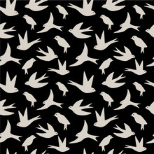 Seamless Pattern Made Of Swall...