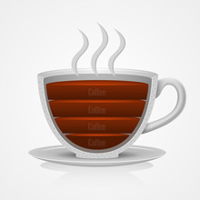 Cup With Coffee. Vector