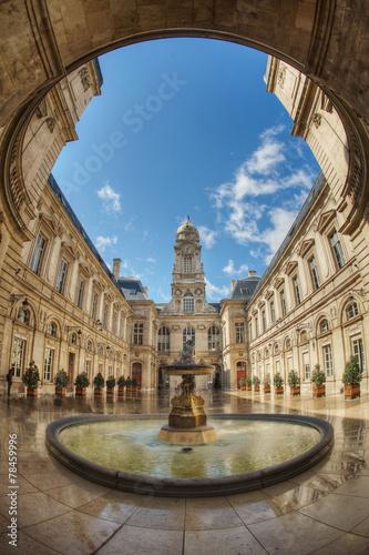 Fotografie, Obraz Lyon hôtel de ville
