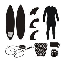 Surfboard Equipment - Silhouette