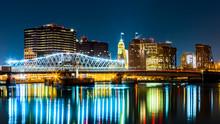Newark, NJ Cityscape By Night