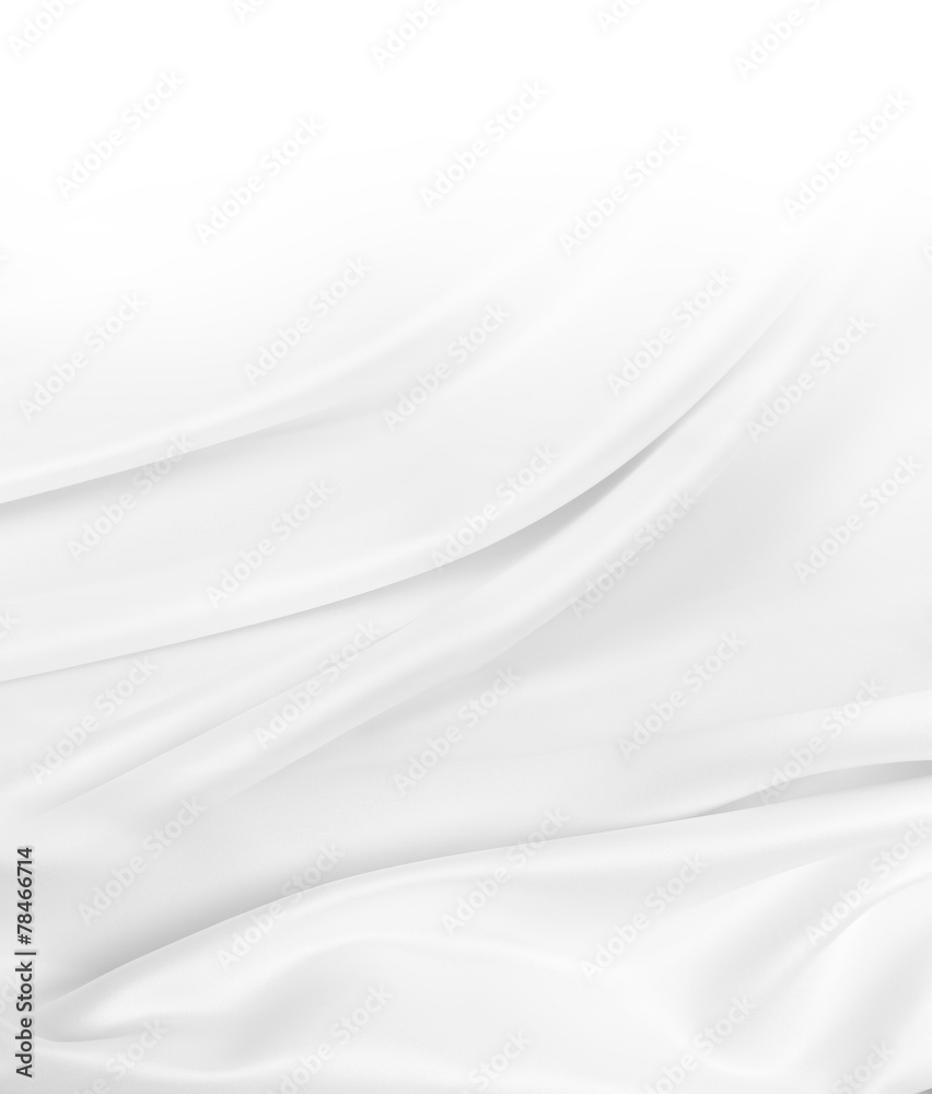 Fototapeta White silk