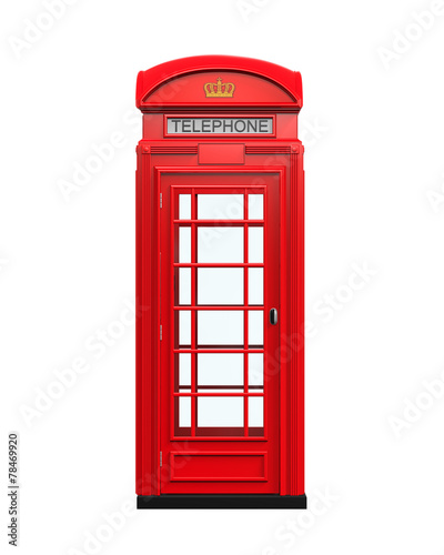 Fotografie, Obraz  British Red Telephone Booth