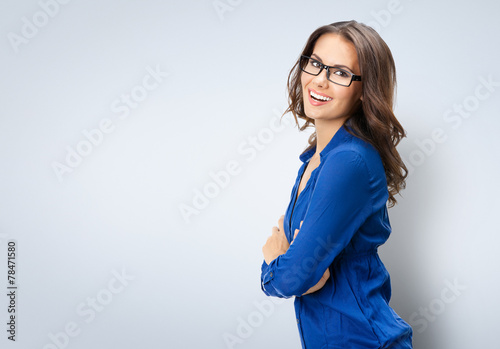 Photo  Happy smiling businesswoman in glasses