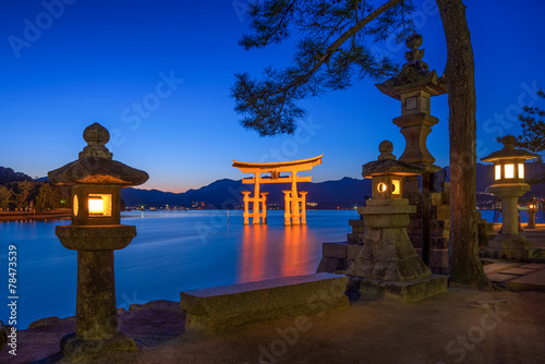 Itsukushima Schrein in Miyajima Japan