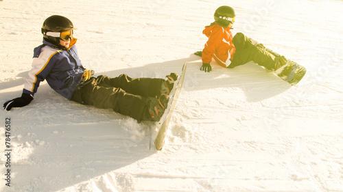 Photo  Snowboarder rest
