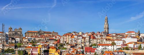 Fotografie, Obraz  Skyline and cityscape of the city of Porto in Portugal