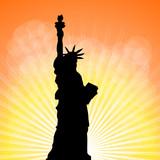 Fototapeta Nowy Jork - statuła wolności i tło