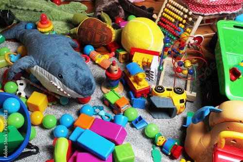 Fotografie, Obraz  Nepořádek v pokoji dítěte