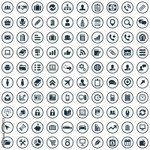 Fotografía  100 company icons