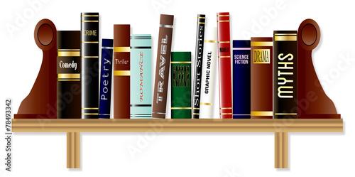 Photo Genre Book Shelf