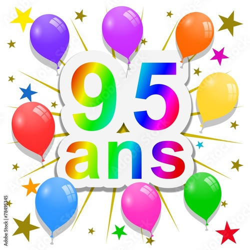 Anniversaire 95 Ans Buy This Stock Illustration And