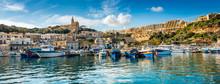 Petit Port De Mgarr Sur L'île De Gozo, Malte