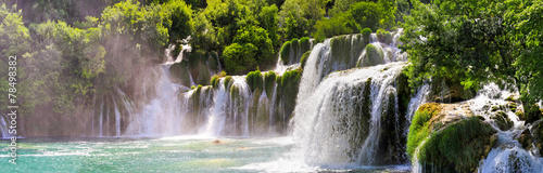 Garden Poster Dark grey Krka waterfalls