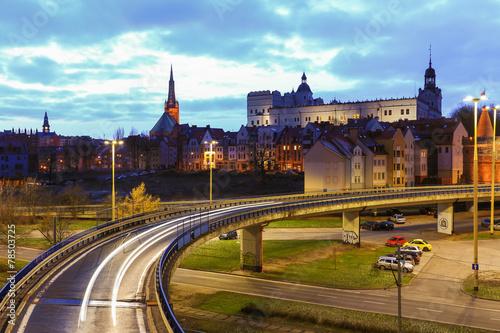 Obraz na plátně Szczecin   trasa zamkowa   zamek książąt pomorskich