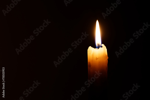Fotografie, Obraz  candle in the dark
