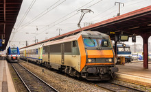 Regional Express Train At Strasbourg Station - Alsace, France