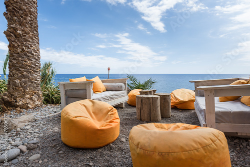 Vacation resort with comfortable seats near the sea at Madeira