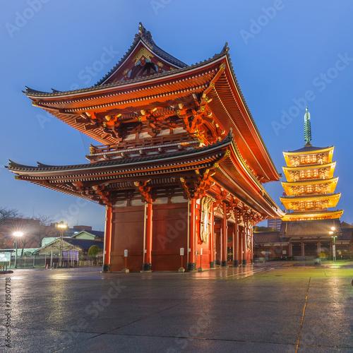Fotobehang Tokyo Tokyo - Sensoji Temple in Asakusa, Japan