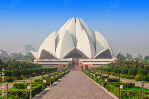 Acrylic Prints Lotus flower Lotus Temple, India