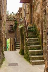 fototapeta uliczka w Pitigliano Toskania