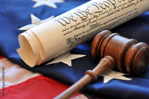 Αφίσα Gavel and Constitution