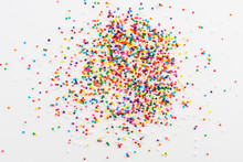 Colorful Round Sprinkles Spill...