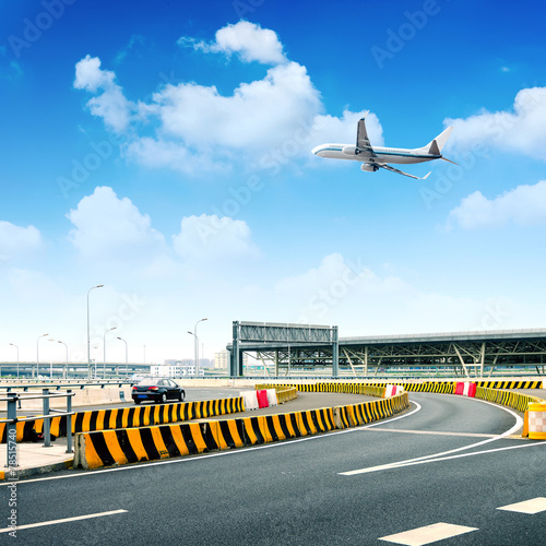 Highway and aircraft